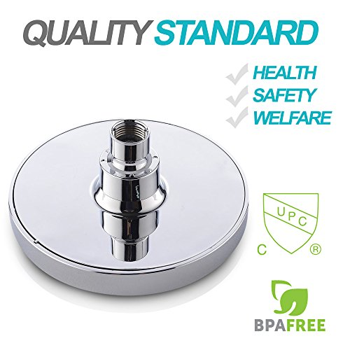 Shower Head - High Pressure Rain - Luxury Modern Look - Easy Tool Free Installation - The Perfect Adjustable & Heavy Duty Universal Replacement For Your Bathroom Shower Heads by SparkPod (Image #3)