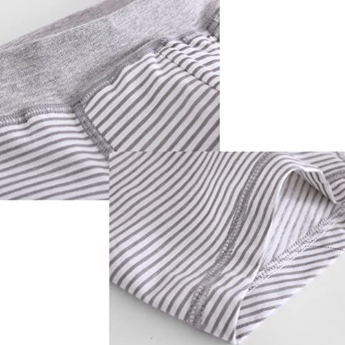Boys Breathable Cotton Underpants 7 PCS Kids Fashion Stripe Flat Underwear
