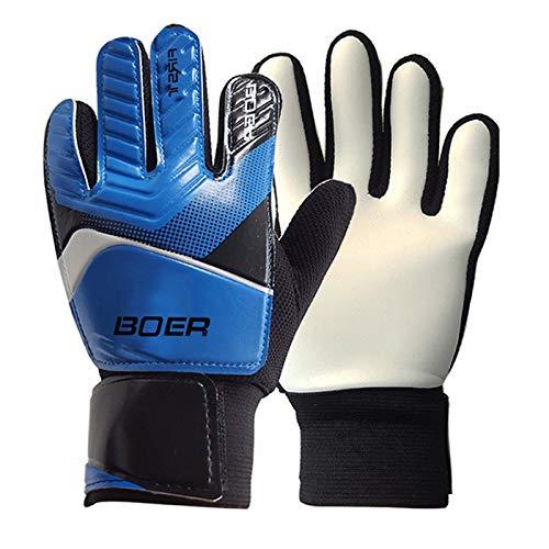TH-OUTSE Thicken Non-Slip Rubber Football Goalkeeper Gloves Goalie Soccer Finger Bone Protection Guard Gloves Begginers Professional