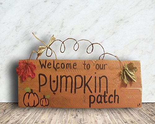 FL8 16 x 5 Rustic Custom Fall Autumn Pallet Sign, Welcome to Our Pumpkin Patch