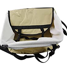 MeeOW Pet Kennel,Car Kennel,Dog Carrying,Travel Carrying,Polyester Beige33*26*20,Suitable for Small Dogs