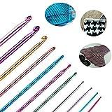 Long Tunisian Afghan Crochet Hooks Set 11 Packs