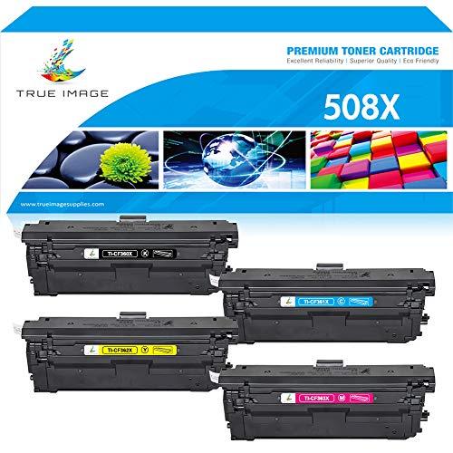 (True Image Compatible Toner Cartridge Replacement for HP 508X 508A CF360A CF360X CF361X CF362X CF363X HP M553 Toner HP Color Laserjet Enterprise M553dn M577dn M553X M553N M552DN M577 M553 Printer Ink)