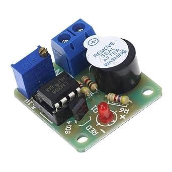 Batcus 9V/12V Battery Sound and Light Alarm Against Over
