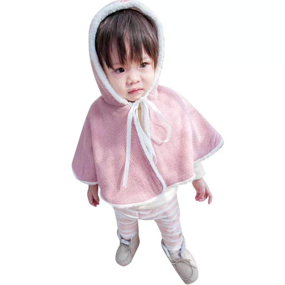Zerototens Girls Coat,0-5 Years Old Toddler Kids Baby Girl Boy Warm Hooded Coat Autumn Winter Thick Warm Cloak Poncho Cape Children Hooded Jacket