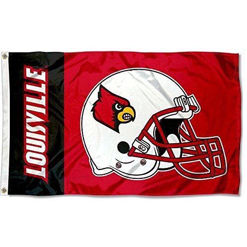 University Of Louisville Cardinal Football - Louisville Cardinals Large Football Helmet 3x5 College Flag