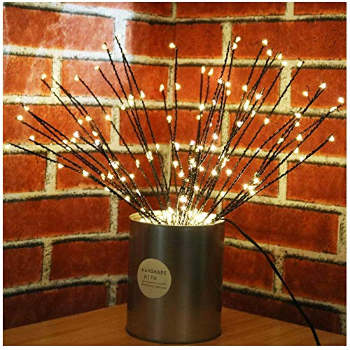 Led Branches Battery Powered Starburst Decorative Lights Vase Filler Lighted Twig Branch for Home Decoration (Warm White)