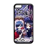 Vintage Retro Black Butler Apple Iphone 5C Case Cover TPU Japanese Anime Kuroshitsuji