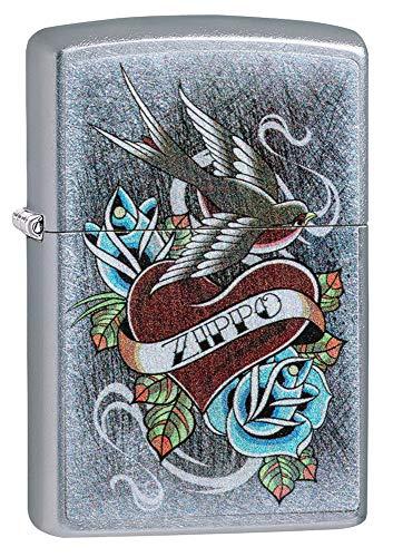 Zippo Vintage Tattoo Street Chrome Lighter