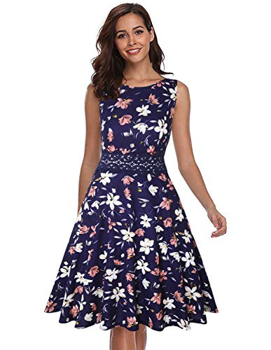 OWIN Women's Vintage 1950's Floral Spring Garden Rockabilly Swing Prom Party Cocktail ()