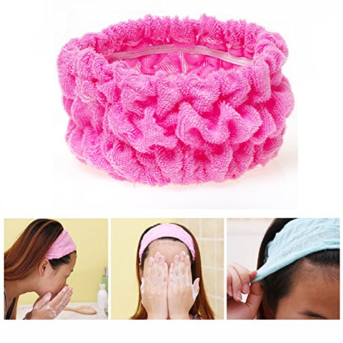 Price comparison product image BUNITA,5Pc Hairdressing Accessories Soft Elastic Hair Ties Ropes Rings For Bath Spa Shower Wash Face Hair Holder Hair Accessories Tools,Hair Tool Holder