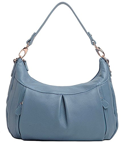 Tote Pure Color Hereby Women��s Leather Soft Style Cross Ultramarine Retro Shoulder Top Kuer Handbag R Handle body HwHfgz