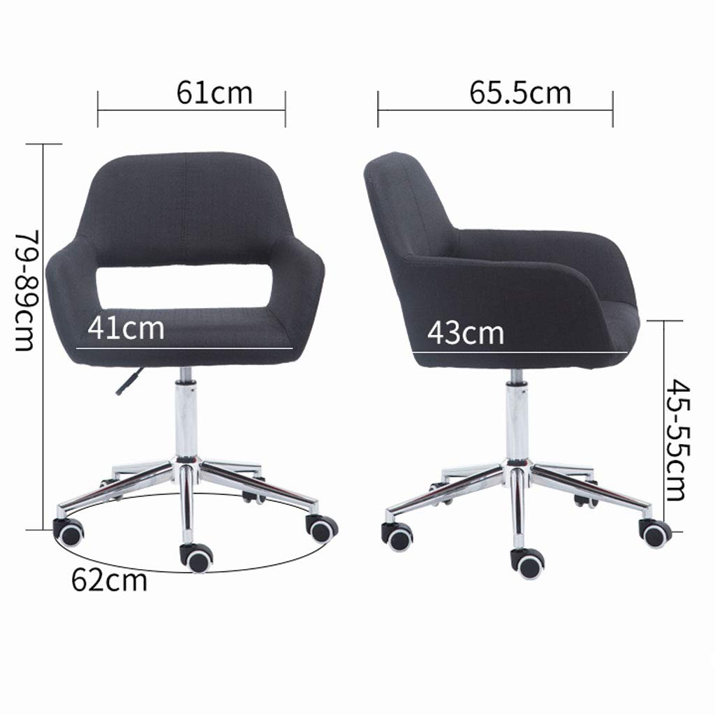 Svängbar stol fritid ryggstol hiss datorstol hem modern enkelt tyg kontorsstol student sovsal skrivbord stol för konferensrum eleganta möbler, lila Brun