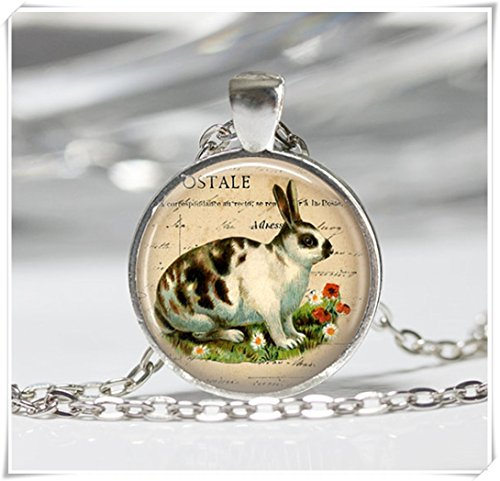 - Magical magnet Rabbit Necklace Pendant Wearable Art Rabbit Jewelry