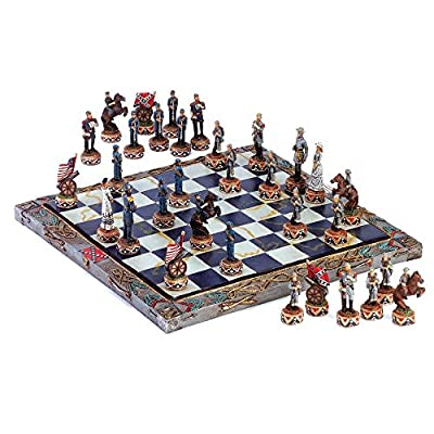 Dragon Crest Chess Table Set, Civil War Army Board Modern Deluxe Quality Table Chess Set (Sold by Case, Pack of 2)