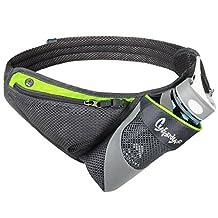 CyberDyer Running Belt Waist Pack with Water Bottle Holder for Men Women Waist Pouch Fanny Bag Reflective Fits iPhone 6/7 Plus