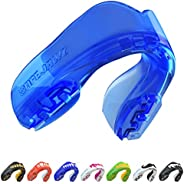 SAFEJAWZ Mouthguard Strapless Slim Fit, Adults and Junior with Case for Boxing, Basketball, Football, MMA, Mar