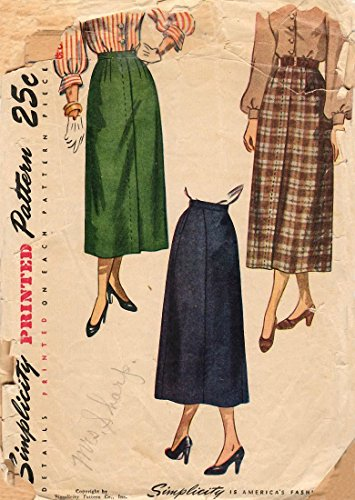Simplicity 2624 a Vintage 1940s Skirt Pattern ()