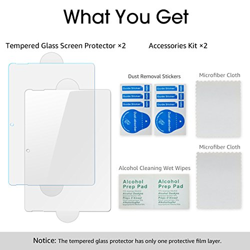 Surface Go Screen Protector,Tempered Glass Screen Protector for Microsoft Surface Go 2018 Released [2-Pack] [Clear and Anti Blue] [Installation Wings][ Scratch-Resistant] by Pulais (Image #7)