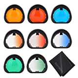 Sunmns Close Up Color Lens Filter Set for Fujifilm Instax Mini 90 Instant Film Camera, 8 Piece