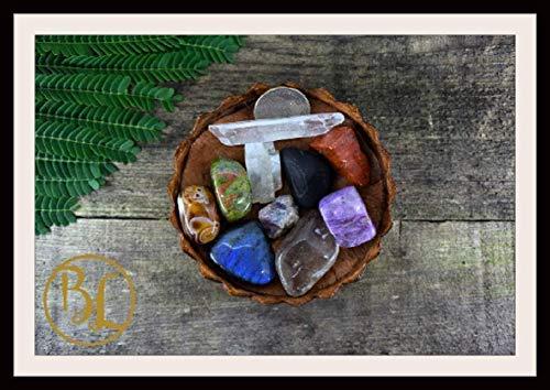 SCORPIO Gemstone Kit 10 Zodiac Scorpio Gemstones Set Healing Crystals Healing Zodiac Scorpio Intention Set Lithiotherapy Scorpio Stones Set