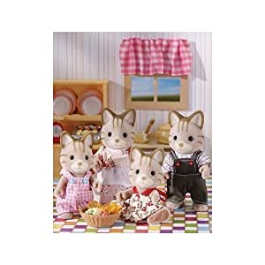 Calico Critters Caramel Cat Family