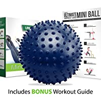 Mini Pilates Ball - Small Exercise Ball for Yoga, Pilates, Barre, Physical Therapy, Stretching and Core Fitness - Includes Mini Stability Ball Workout Guide from URBNFit