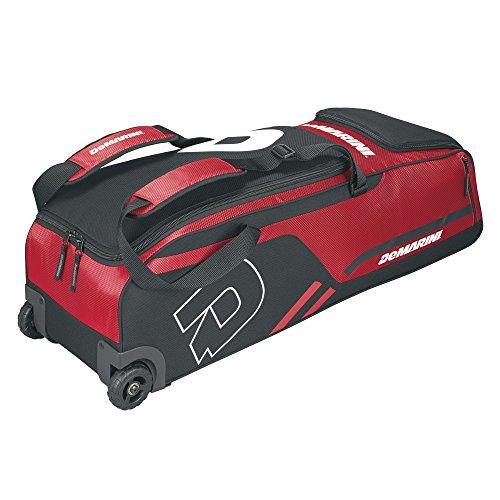 DeMarini Momentum Wheeled Bag, Scarlet (Baseball Roller Bag)