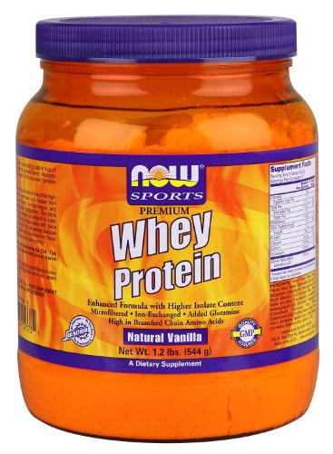 NOW Sports Premium Whey Protein, Natural Vanilla, 1.2-Pound
