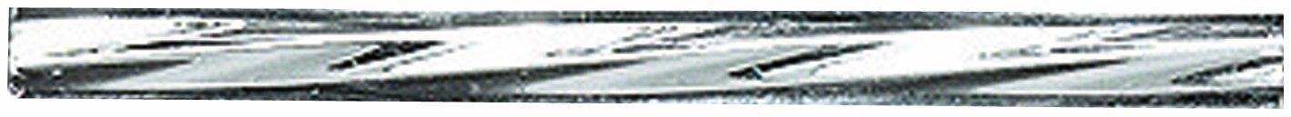 Preciosa Ornela Czech Twisted Bugle Glass Bead, 30mm, Silver Lined, Crystal, 100gm/Pack Shipwreck Beads 30BT412