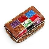 Wallets, Hunzed Leather Wallets Bag Women Coin Pocket Bag Female Clutch Travel Wallet (Coffee)