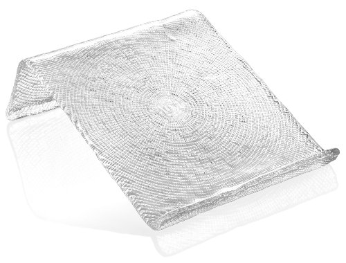 IVV Glassware 6555/1 Diamante Cookbook Tablet Stand, 9-3/4 by 11-Inch, Clear by IVV Glassware