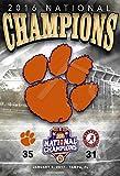 Poster - College Football Clemson Tigers Poster Print - 2017 Championship Scorecard