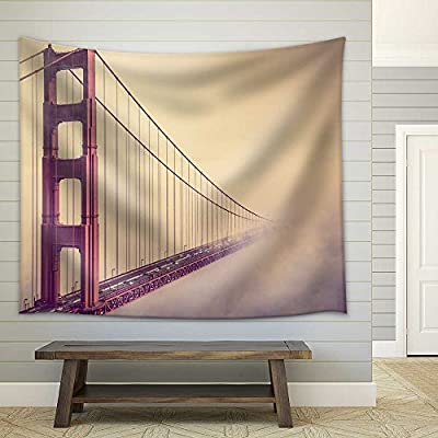 Lovely Technique, Made With Top Quality, into The Fog San Francisco Golden Gate Bridge Foggy Scenery Fabric Wall