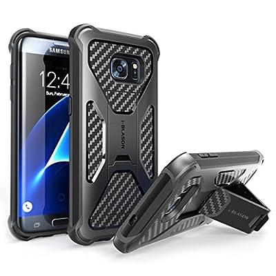 Galaxy S7 Edge Case, i-Blason Prime [Kickstand] Samsung Galaxy S7 Edge 2016 Release [Heavy Duty] [Dual Layer] Combo Holster Cover case with [Locking Belt Swivel Clip]