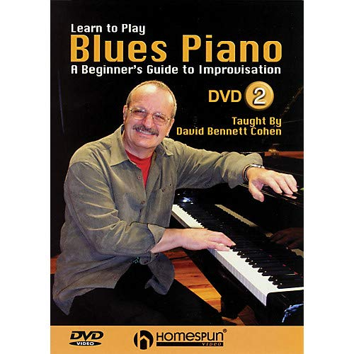 Learn to Play Blues Piano - A Beginner's Guide to Improvisation Homespun Tapes DVD by David Bennett Cohen Pack of 2