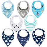 YOOFOSS Baby Bandana Dribble Bibs and Drool Bibs for Boys & Girls (Pack of 8)