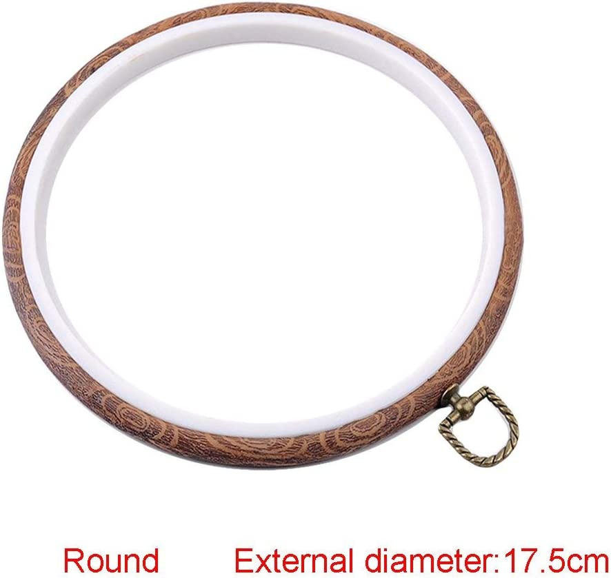 Plastic Oval Cross Stitch Hoops Needlework Embroidery Sewing Hoops 15x19cm