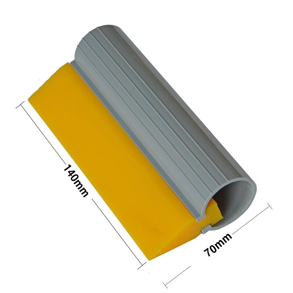 Ehdis® 5.5inch (14cm) Herramientas Turbo limpiacristales película tubo de goma de silicona del raspador de la lámina de agua de la etiqueta del abrigo ...