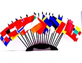 Northwest Europe World Flag Set with BASE-20 Polyester 4''x6'' Flags, One Flag for Each Country in Northwest Europe, 4x6 Miniature Desk & Table Flags, Small Mini Stick Flags