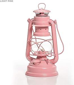 Crownplace Brands Feuerhand Galvanized Lantern - Light Pink