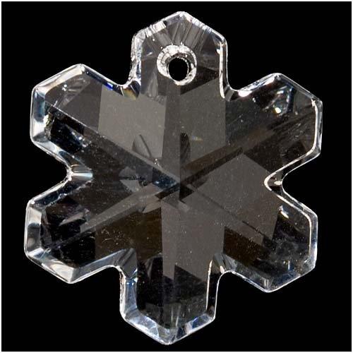 SWAROVSKI ELEMENTS Crystal Snowflake Pendant #6704 20mm Crystal (1)