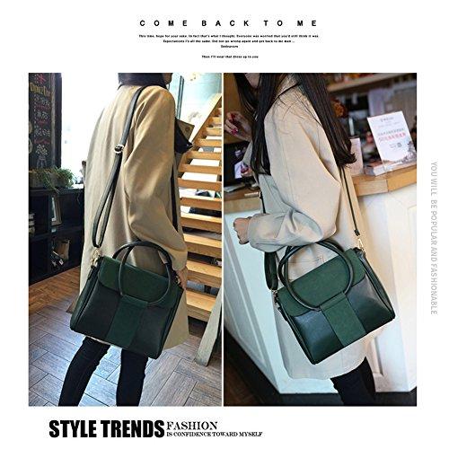 Yoome Anello circolare Top Tote Handle Retro borse per donne Flap Borse Per Ragazze Casual Borse Crossbody
