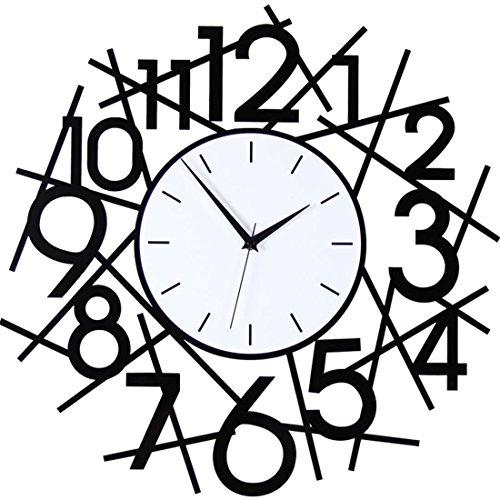 Creative Art Wall Clock Drawing simple personalization Jong-mute quartz clock digital wall chart mute wall clock20Inch,The enormous number:6060Cm by LLSJZ CLOCK