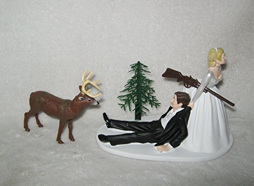 Wedding Reception Party Redneck Buck Deer Hunter Hunting Cake Topper ()