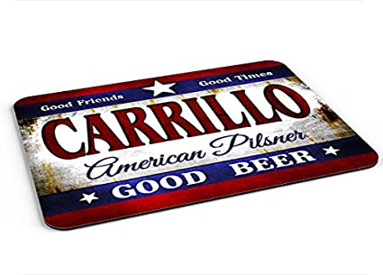 Carrillo American Pilsner Mousepad/Desk Valet/Coffee Station Mat