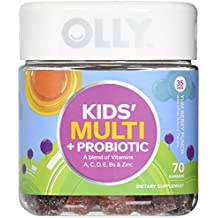 OLLY Kids Multivitamin & Probiotic Gummy Supplement with Zinc & PROBIOTICS, Yum Berry Punch, 70 Gummies (35 Day Supply)