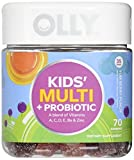OLLY Kids Multivitamin and Probiotic Gummy Supplement, with Zinc & PROBIOTICS; Yum Berry Punch; 70 count (35 day supply)