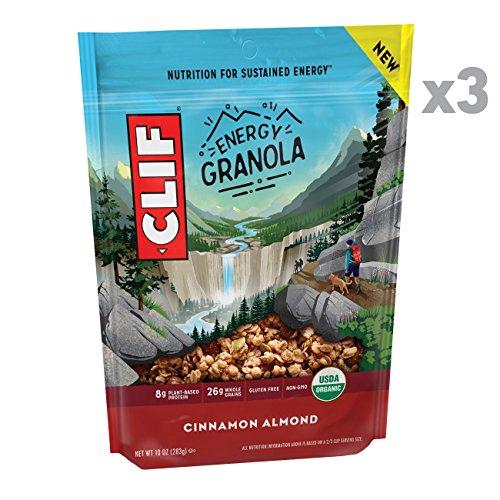 CLIF Energy Granola - Organic, Gluten Free Nutrition - Cinnamon Almond - (10 Ounce Bag, 3 Count)