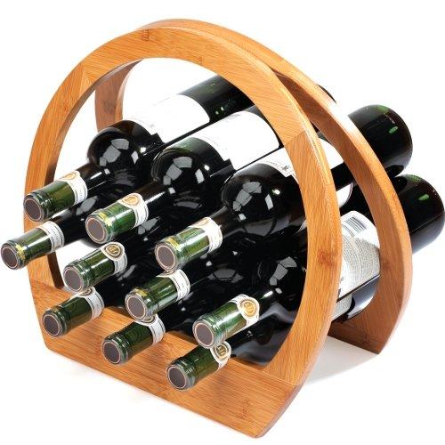 Umbra Barrel Bamboo Wine Rack For Sale